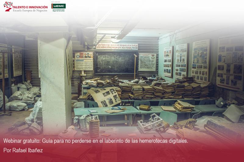 webinar sobre hemerotecas digitales por Rafael ibañez